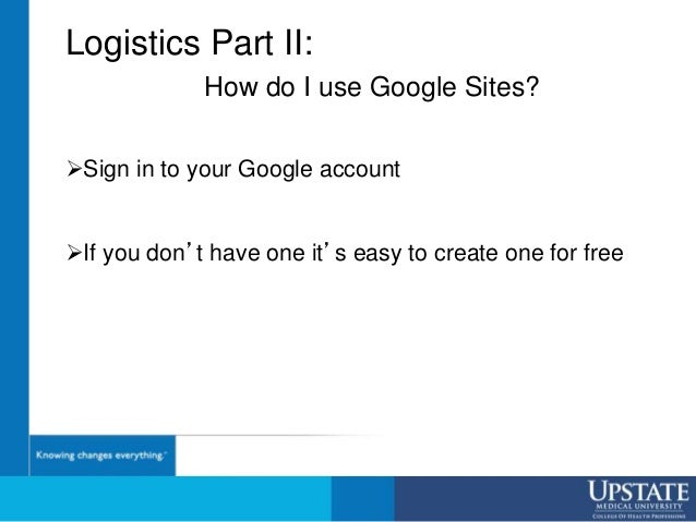 Sign in to your Google account If you don't have one it's easy to create one for free Logistics Part II: How do I use Go...
