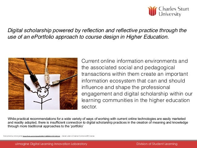 CHARLES STURT UNIVERSITY uImagine Digital Learning Innovation Laboratory Division of Student Learning Digital scholarshi...