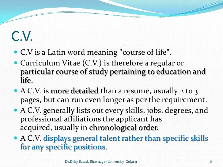 Resume Cv   What Is A Resume Definition