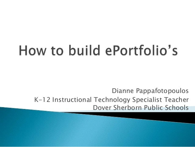 Dianne Pappafotopoulos K-12 Instructional Technology Specialist Teacher Dover Sherborn Public Schools