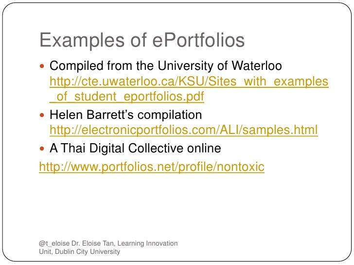 eportfolios  advantages and disadvantages for assessment