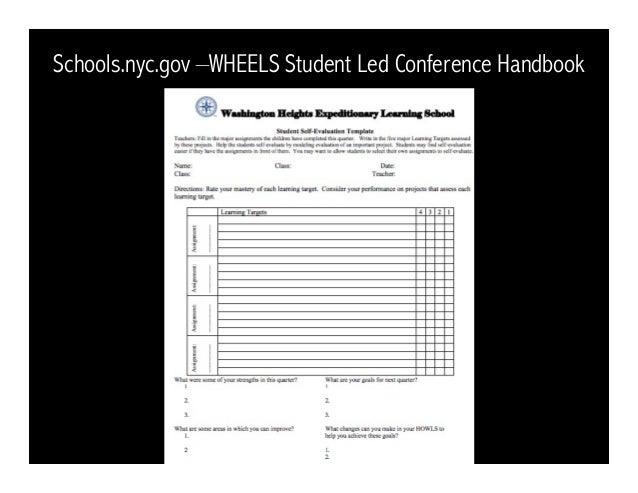 Schools.nyc.gov –WHEELS Student Led Conference Handbook