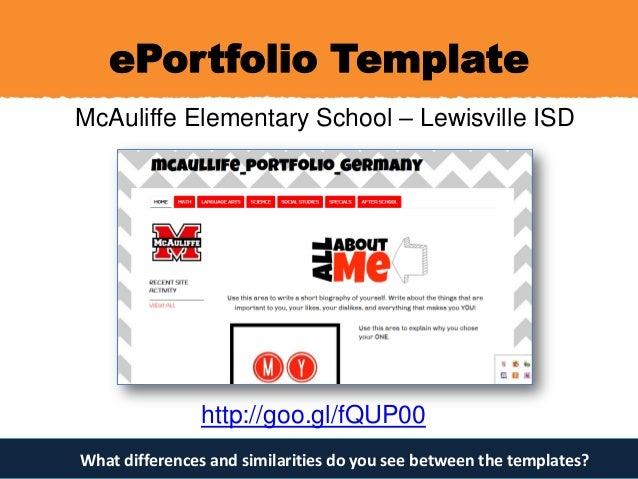 EPortfolios For Authentic Assessment - E portfolio templates