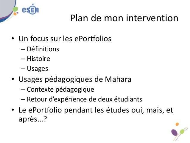 Eportfolio usages pédagogiques de mahara Slide 2