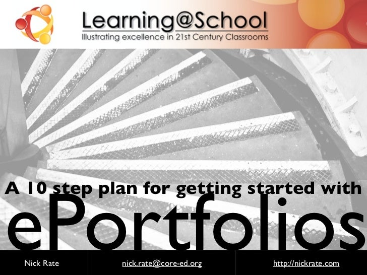 http://flickr.com/photos/steveharris/ePortfoliosA 10 step plan for getting started with  Nick Rate   nick.rate@core-ed.org ...