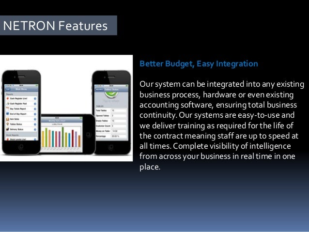 NETRON Features Increased Profits, Better Efficiency Our improved processes and tighter control delivers valuable savings ...