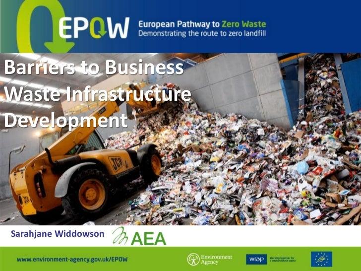 Barriers to BusinessWaste InfrastructureDevelopmentSarahjane Widdowson
