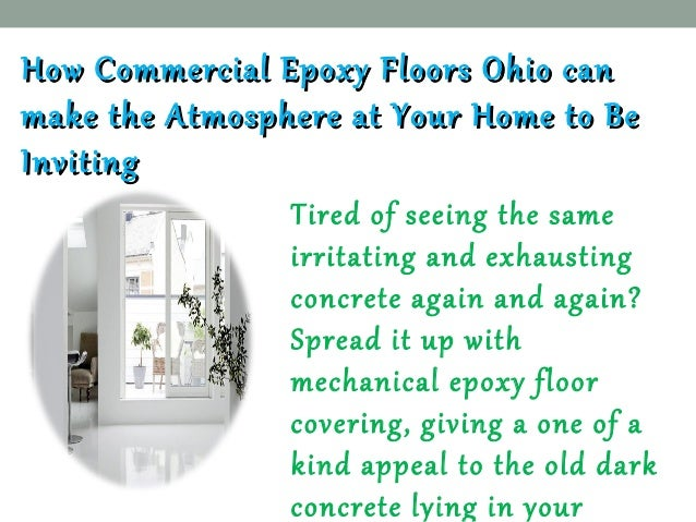 Epoxy Flooring Solution Company Ohio  Slide 3