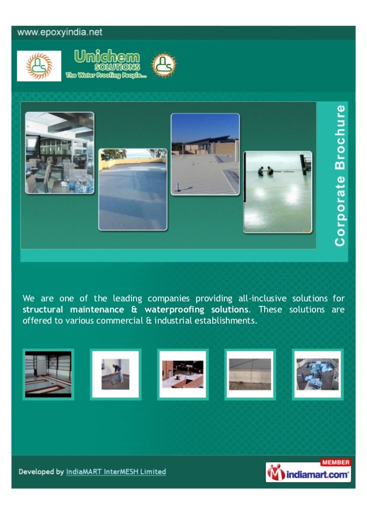 We are one of the leading companies providing all-inclusive solutions forstructural maintenance & waterproofing solutions....