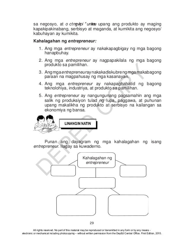 K TO 12 GRADE 4 LEARNER'S MATERIAL IN EPP (Q1-Q4)
