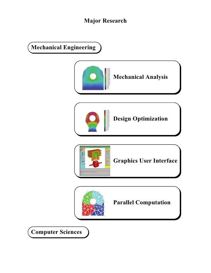 Major Research    Mechanical Engineering                                 Mechanical Analysis                              ...