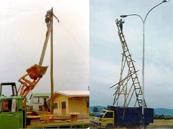 Epp trabajos en altura 1 for Escalera de electricista