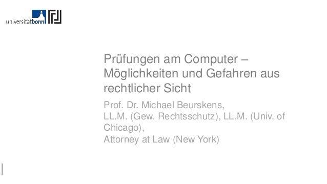 CC-BY 4.0 – Prof. Dr. Beurskens Rahmen Angst Multiple Choice Trends Checkliste Prüfungen am Computer – Möglichkeiten und G...