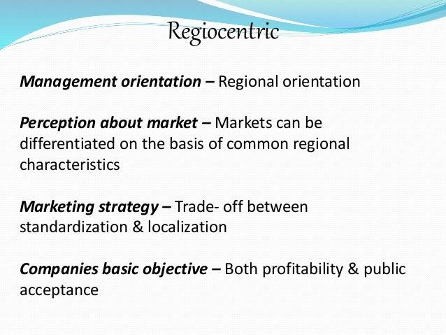 regiocentric orientation example