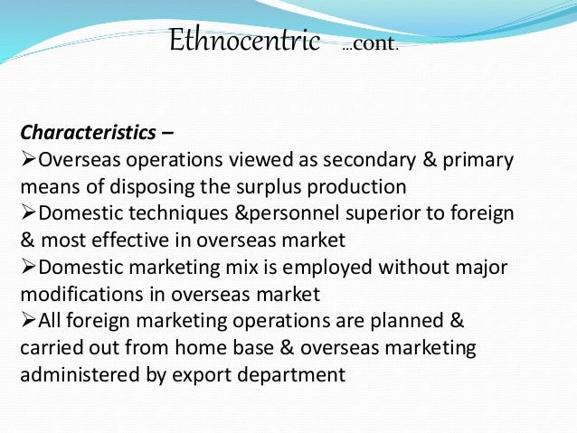 ethnocentric predisposition example