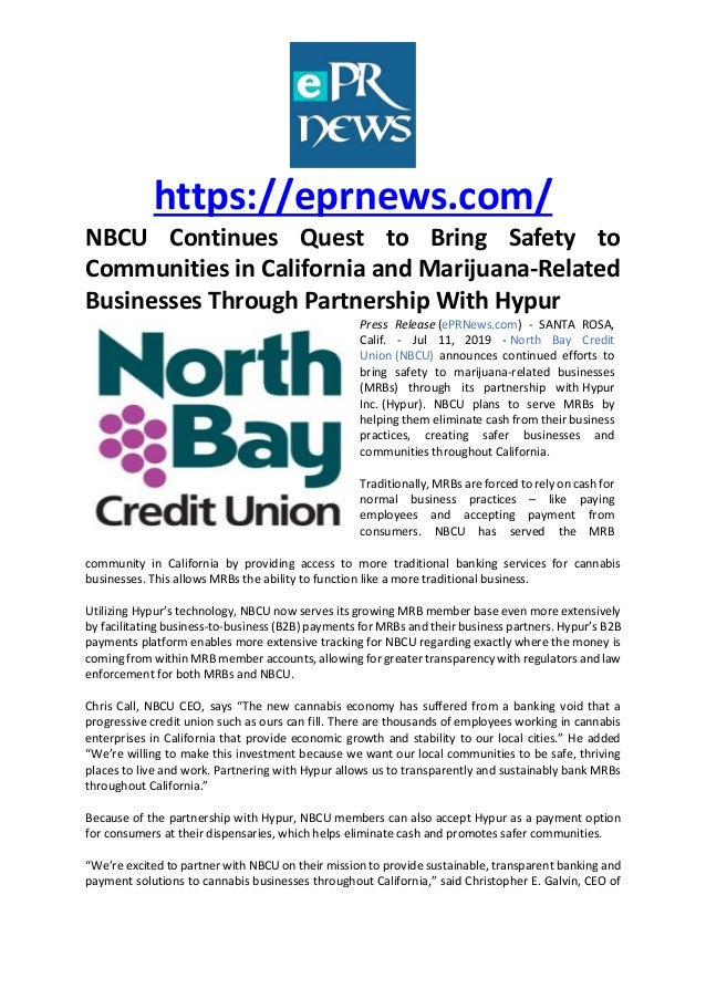 https://eprnews.com/ NBCU Continues Quest to Bring Safety to Communities in California and Marijuana-Related Businesses Th...