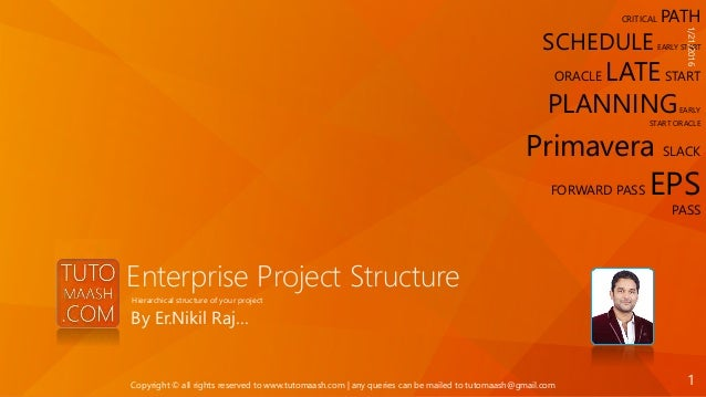 Enterprise Project Structure By Er.Nikil Raj… Hierarchical structure of your project CRITICAL PATH SCHEDULE EARLY START OR...