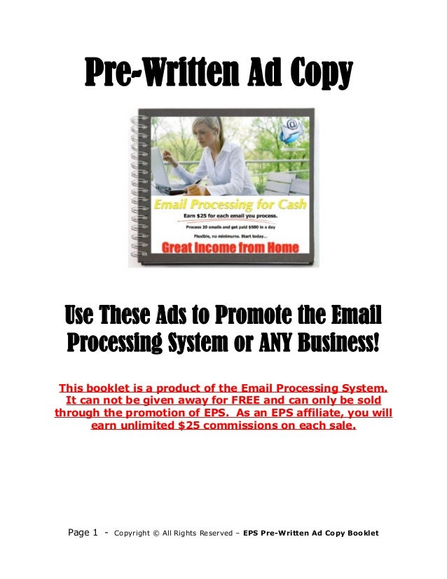 Image result for prewritten ads images