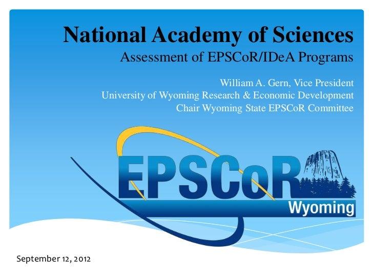 National Academy of Sciences                         Assessment of EPSCoR/IDeA Programs                                   ...