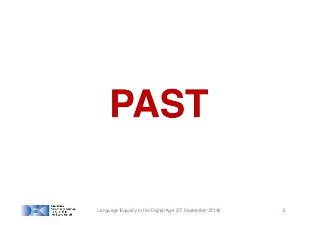 European Language Technologies – Past, Present and Future Slide 2