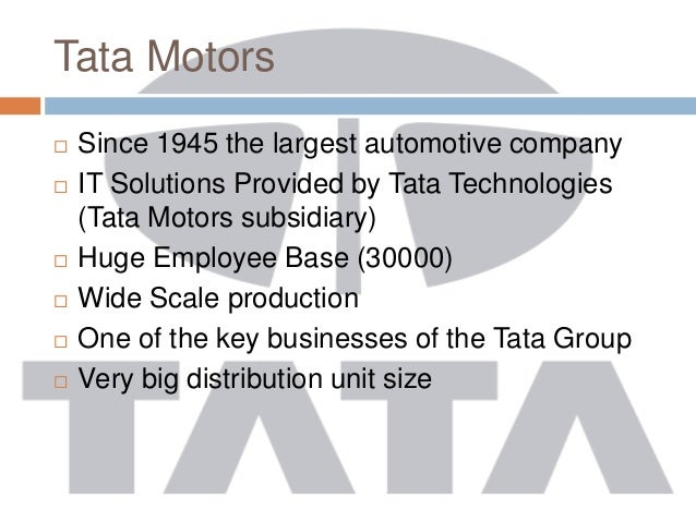 erp implementation at tata motors The trick is to concentrate on erp first as erp is the mother-source of all enterprise data for most companies  crm architect who can oversee the entire implementation at tata motors, when we.