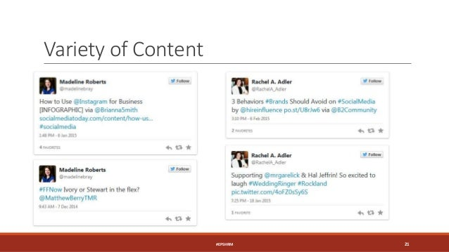 Variety of Content #EPSHRM 21
