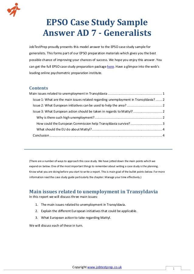epso assessment center case study