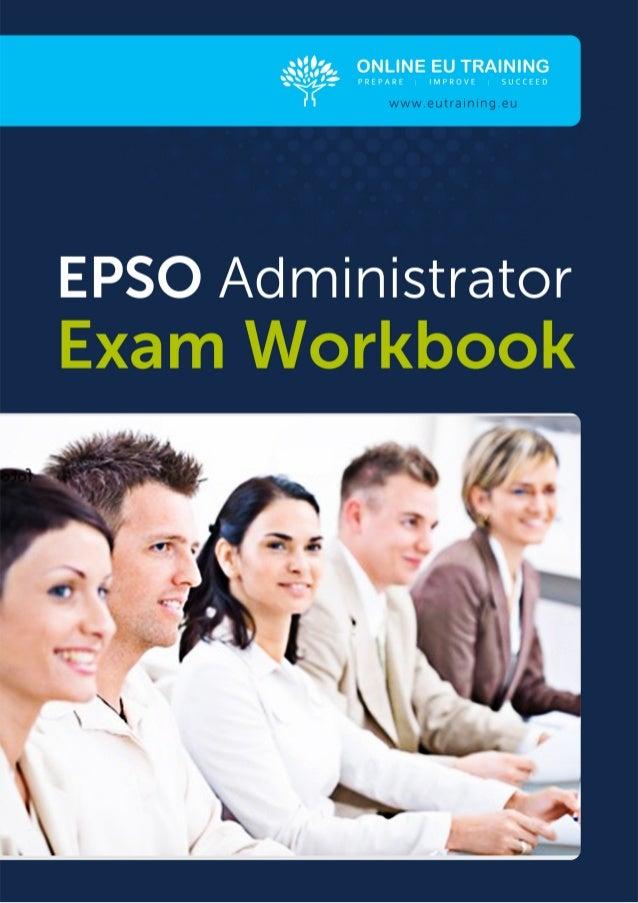THE EPSO ADMINISTRATOREXAM TEST TYPES                                                                                     ...