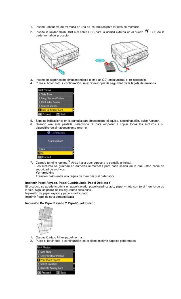 Epson workforce 635 en español