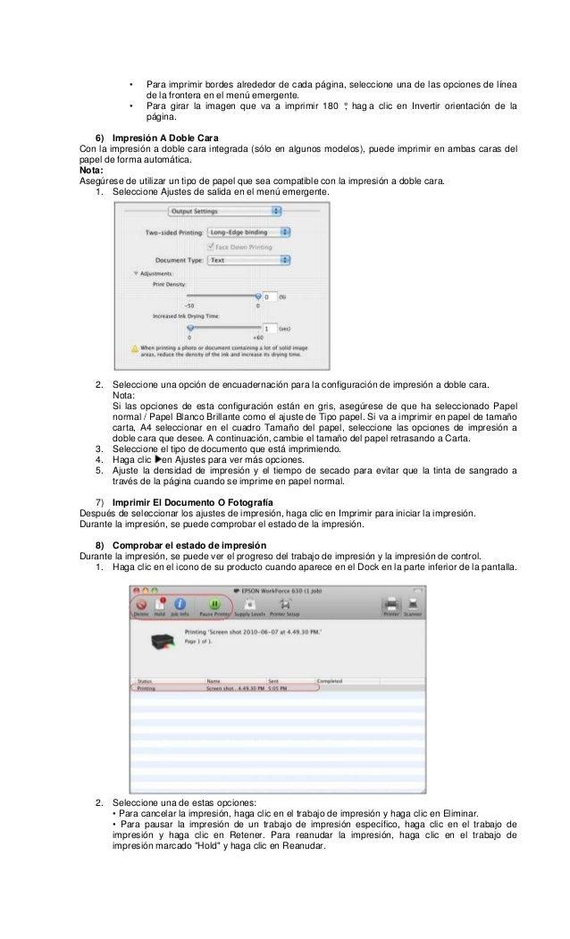 Epson workforce 635 en español