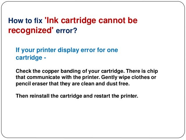 Epson Ink Cartridges - How to Fix Ink Cartridges Cannot Be Recognized…