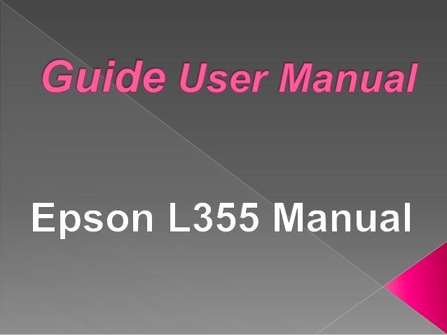 Epson l355/l358 parts manual.