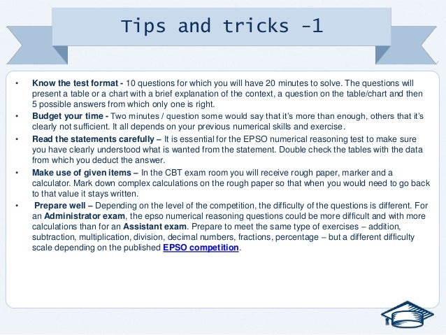 numerical reasoning test tips and tricks pdf