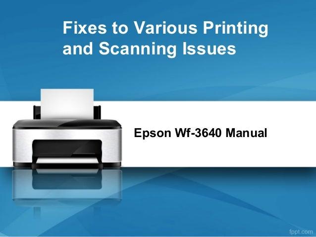 epson wf 3640 manual