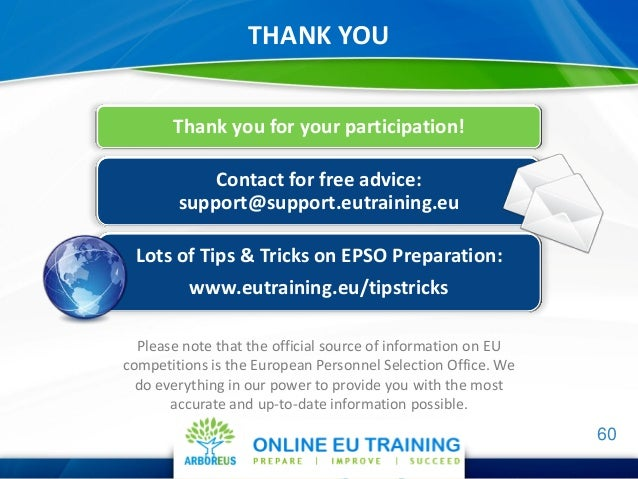 Epso sc1 and sc2 information webcast - European personnel selection office epso ...