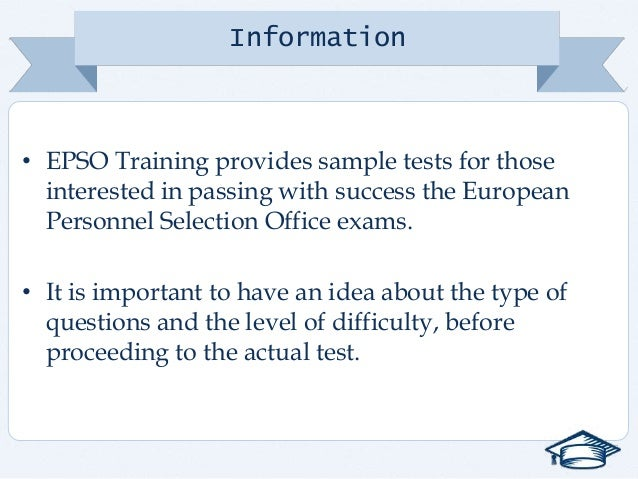 Epso verbal reasoning sample tests - European personnel selection office epso ...