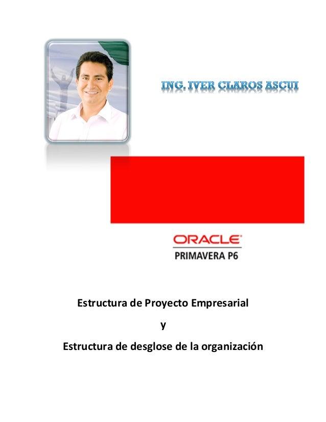 Estructura de Proyecto Empresarial y Estructura de desglose de la organización