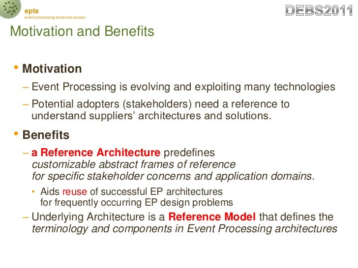 EPTS DEBS2011 Event Processing Reference Architecture and