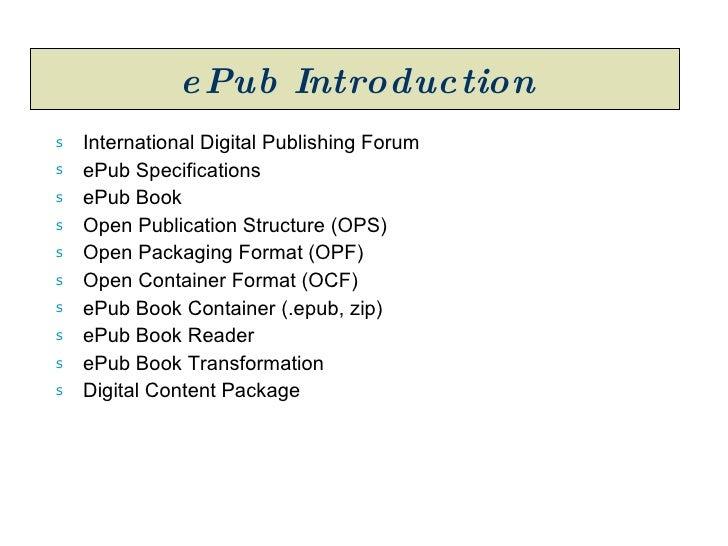 ePub Book Introduction Slide 2