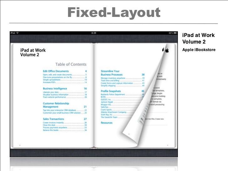 Fixed-Layout               iPad at Work               Volume 2               Apple iBookstore