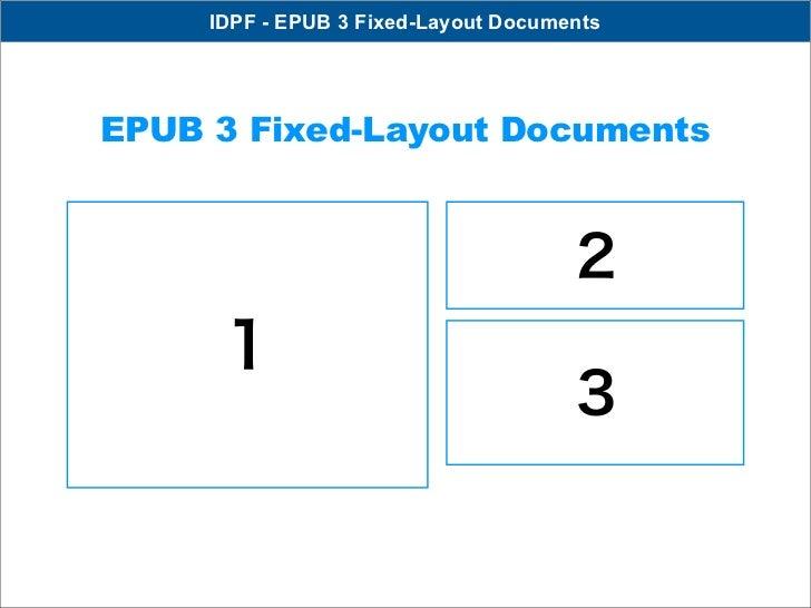 IDPF - EPUB 3 Fixed-Layout DocumentsEPUB 3 Fixed-Layout Documents                                      2      1           ...