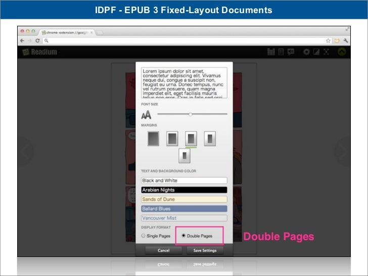 IDPF - EPUB 3 Fixed-Layout Documents                              Double Pages