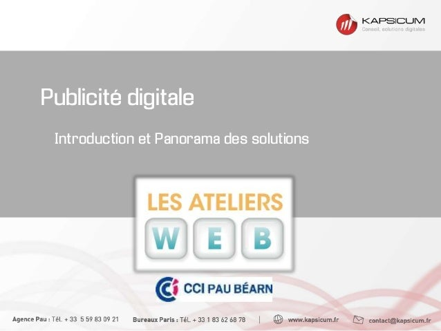 Publicité digitale Introduction et Panorama des solutions