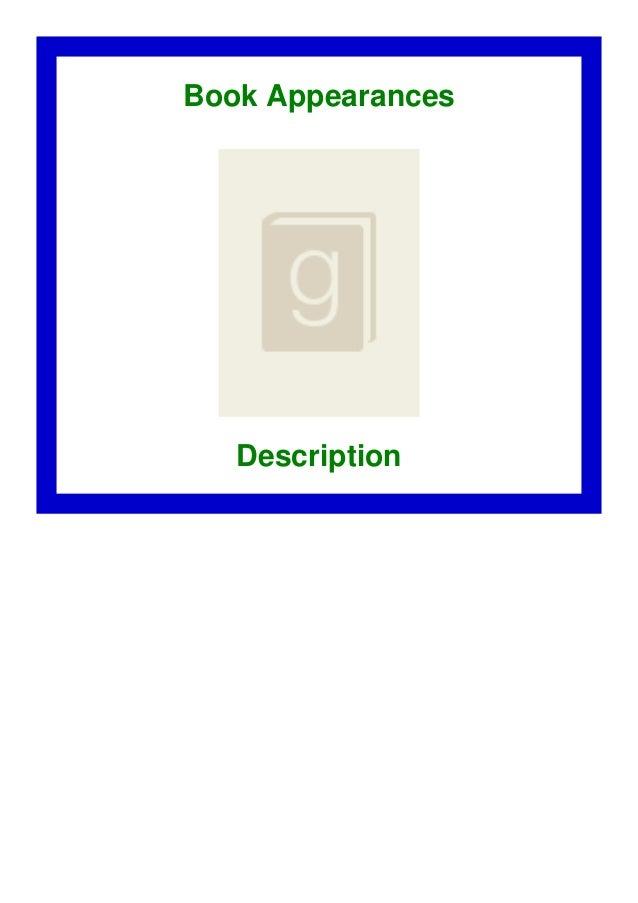 Book Appearances Description