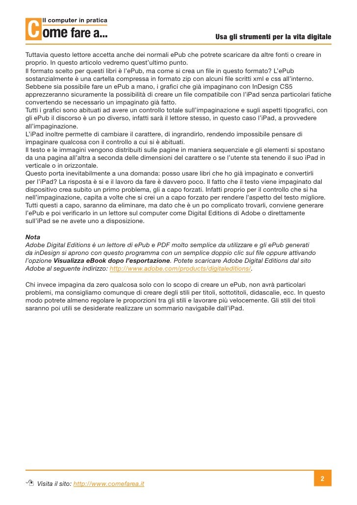 Da InDesign a iPad (usando ePub) Slide 2