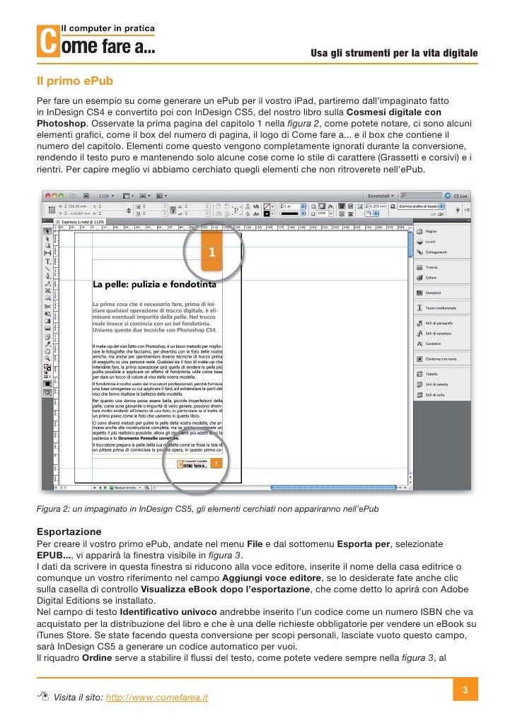 Da InDesign a iPad (usando ePub) Slide 3