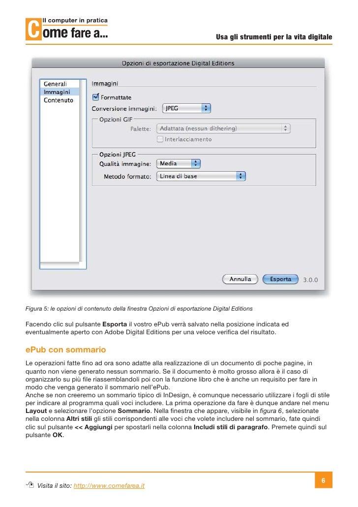 Usa gli strumenti per la vita digitaleFigura 5: le opzioni di contenuto della finestra Opzioni di esportazione Digital Edit...