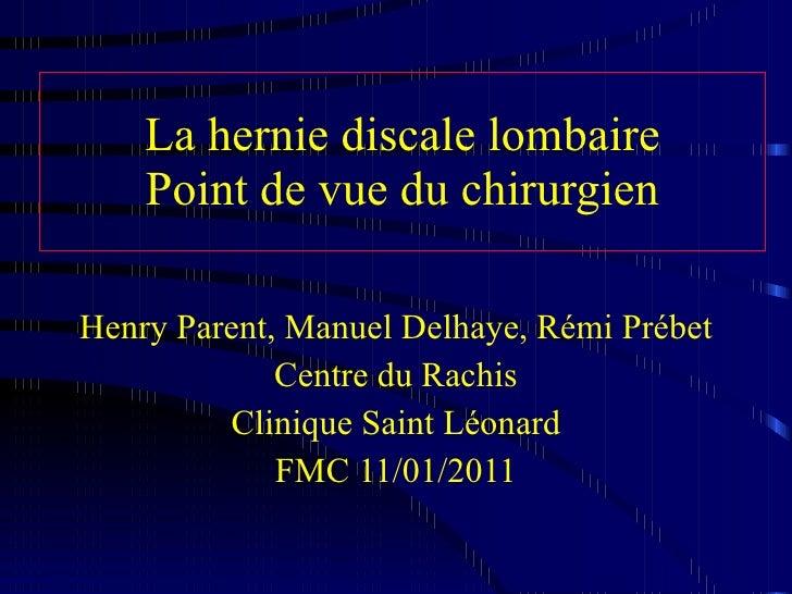 Hernie Discale 11 01 11