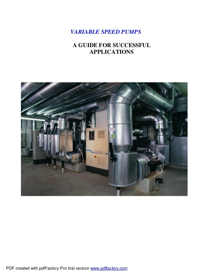 VARIABLE SPEED PUMPS                                   A GUIDE FOR SUCCESSFUL                                        APPLI...