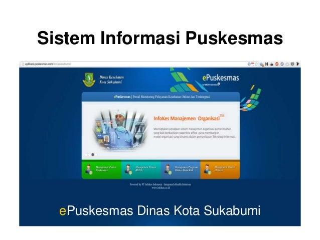 Sistem Informasi Puskesmas  ePuskesmas Dinas Kota Sukabumi